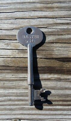 Antique  Mortise Lock Master Skeleton Key # 53L  Antique Door Key  Master # 53L