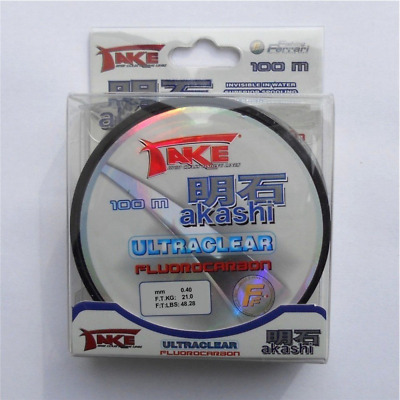 Akashi Flurocarbon TAKE Ultraclear 100 M / 0,40 MM 21 kg