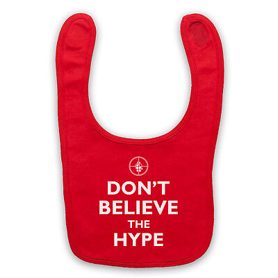 Don't Believe The Hype Public Enemy Unofficial Hip Hop Baby Bib Cute Baby Gift