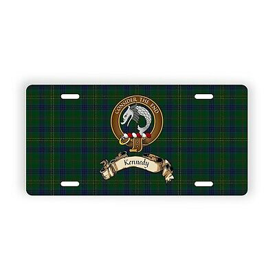 Kennedy Scottish Clan Novelty Auto Plate with Crest and English Motto