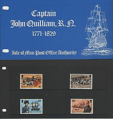 Isle Of Man  Captain John Quilliam 1979   Presentation Pack Of Mint Stamps