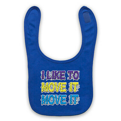 I Like To Move It Unofficial Reel To Real Electronic Baby Bib Cute Baby Gift