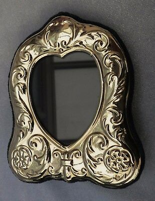 *PRETTY 1996 Silver Photo Frame Modern Sheffield Hallmark Excellent Carr