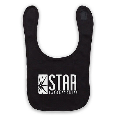 Flash Star Unofficial Labs Laboratories Dc Logo Comic Baby Bib Cute Baby Gift