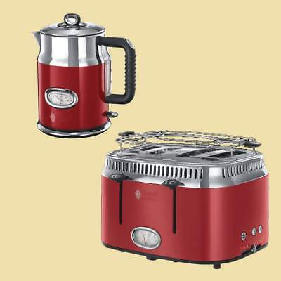 Russell Hobbs Set Retro Ribbon Red - Wasserkocher 21670-70 + Toaster 21690-56