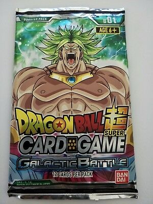 Dragon Ball Super Card Game | Galactic Battle Booster Pack (12 Cards per Pack)