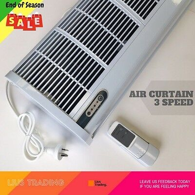 Premium Air Curtain Commercial 900mm Heavy Duty 3 Speed Remote Control White