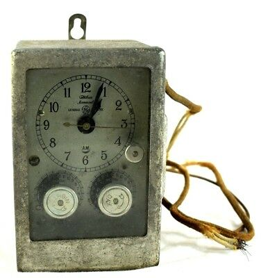 1930's GE Telechron Industrial Detroit Clock Switch No.446 Heavy Thermostat