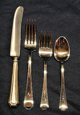 FAIRFAX STERLING SILVER FLATWARE SET for 8 WITH NICE SERVERS BY   DURGIN/GORHAM