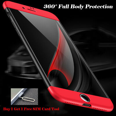 360° Full Body Luxury Ultra Thin Hybrid case Cover for Apple iPhone 6s 6 7 1 ...