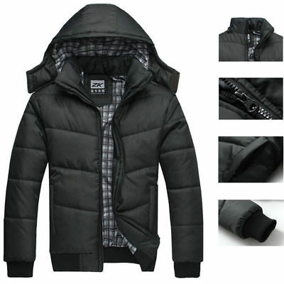 NEW Men's Warm Hoodie Padded Overcoat Parka Winter Coat Outwear Thick Jacket US