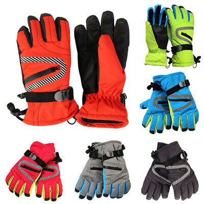 Latest Kids Ski Gloves Adjustable Wrist Buckle Outdoor Sport Glove Durable Equip