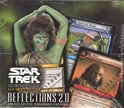 Star Trek Ccg 2E Reflections 2.0 Sealed Box Of 24 Booster Packs Of 18 Cards