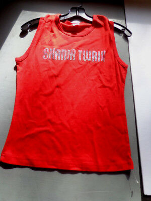 ^    SHANIA TWAIN-large -red tank top-stud-concert TOUR -official clothing New