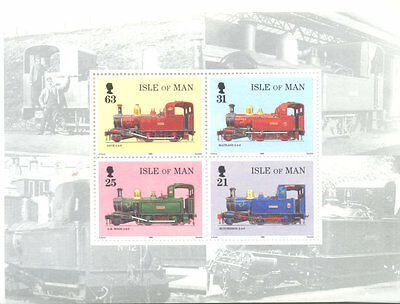 Isle of M an-Railways-trains special sheet(ex booklet)mnh