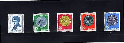 Switzerland 1962 Old People's Home & Cultural Works SG 663/7 MUH
