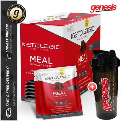Keto Meal Replacement by KetoLogic *10 Sachets* Low Carb Weight Loss + Free Gift