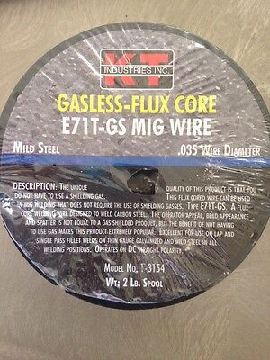 Gasless-Flux Core E71T-GS MIG Wire, Mild Steel, .035 Wire Diameter, 2Lb.