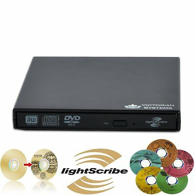 Externer Lightscribe-Brenner für Netbook,PC,Laptop,Mac (CD/DVD RW),incl. Rohling
