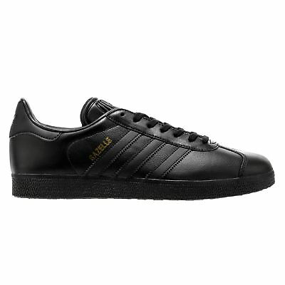 Adidas Gazelle Black Mens Low Top Trainers
