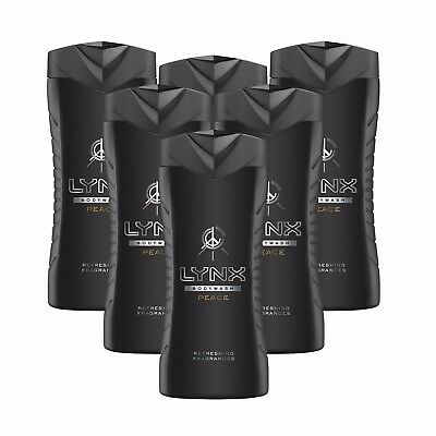 Lynx Peace Shower Gel Body Wash Refreshing Fragrances 6 X 250Ml