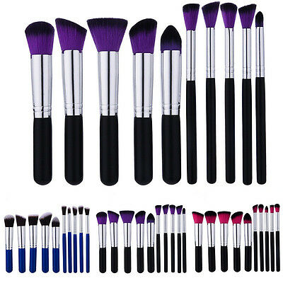 10Pcs Makeup Blush Concealer Eyeshadow Blending Set Contour Cosmetic Brush Pop