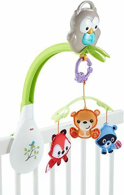 Baby Crib Spinning Toy Woodland Friends 3-in-1 Musical Mobile Baby Fun Play Yard