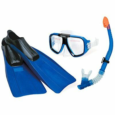 Intex 55957 – Mask With Fins and Snorkel Swim Set Reef Rider, Blue