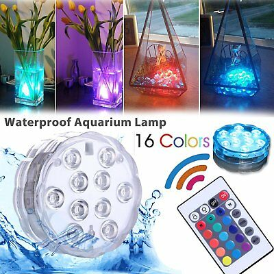 Sumergible 10 LED Impermeable Luz de la Noche del Partido 16 RGB Decor Lights