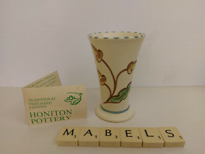 HONITON POTTERY  ~ART DECO - ACORNS~ small vase - rare