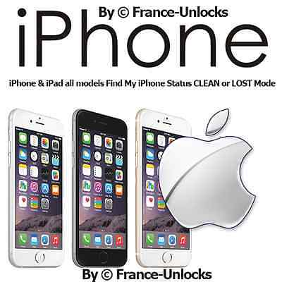 CHECK STATUS iCLOUD CLEAN/LOST with IMEI