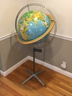Rare Denoyer Geppert 24 Inch Vanguard Reference Globe Scientific Globe