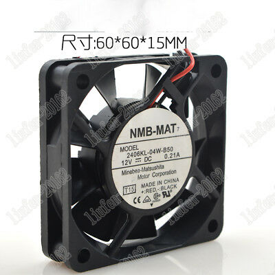 1 pc new NMB 6015 2406KL-04W-B50 12V 0.21A 2-wire cooling fan 60 * 60 * 15MM