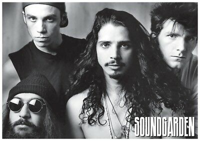 Soundgarden Group Black And White Poster New 34X24 Free Shipping