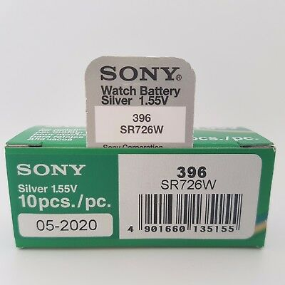SONY 396 SR726W BATTERY BATTERIES SILVER OXIDE WATCH COIN CELL x 1 2 3 4 5 10