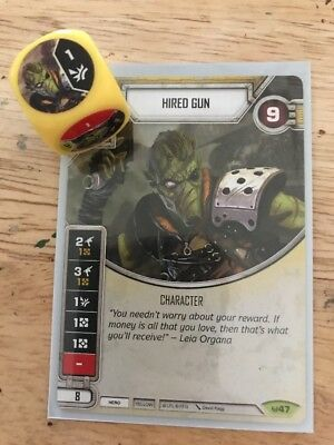 Star Wars Destiny Rare Character #47 Hired Gun Awakenings