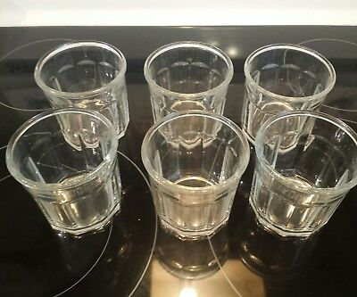 6 Luminarc 500 Working Glasses 10 Panel Clear