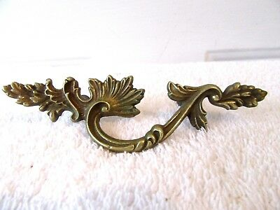 "5.25"" Brass Antique Hardware French Provincial Leaf Drawer Pull Knob Cabinet"