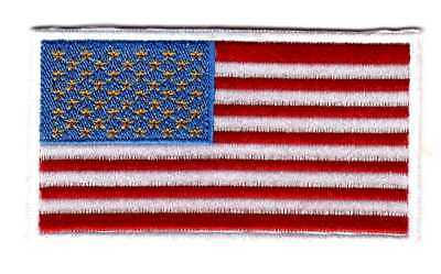 American Flag Embroidered Shoulder Patch White Border USA US United States