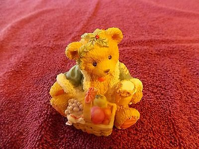 Cherished Teddies Bear Garland Ghost of Christmas Present Fruit Basket 614807