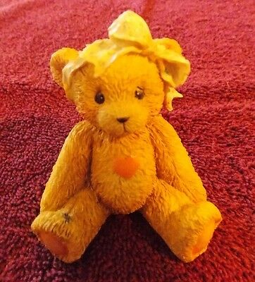Cherished Teddies Bear with Bow Sara Love ya Heart Valentine 950432 1991