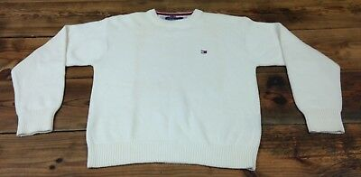 Tommy Hilfiger Unisex Child's Sweater - Size L - Color Ivory - Good Condition