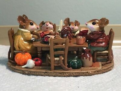 Wee Forest Folk M-302 Family Gathering Thanksgiving