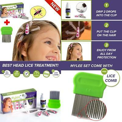 Head Lice Prevention Cute Clips Head Hair Treatment No Shampoo + Nit Pro Comb