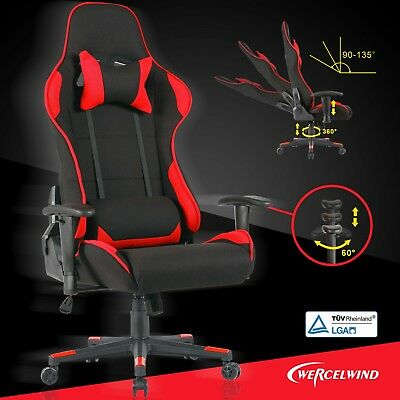 High Back Office Racing Gaming Chair Executive Computer Desk Chair Rocker Black