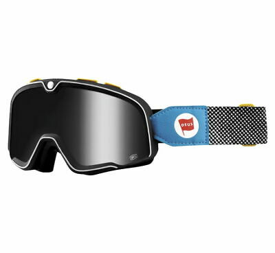 100% Barstow Goggles Deus 17, Silver Lens MX OLD SCHOOL