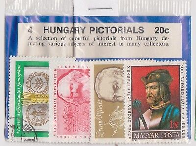 (V1-115) 1960s Hungary old stamps pack 4 stamps pictorials (DG)