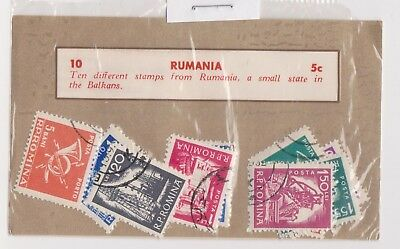 (V1-120) 1950s Romania old stamps pack of 10 stamps Balkans (OL)