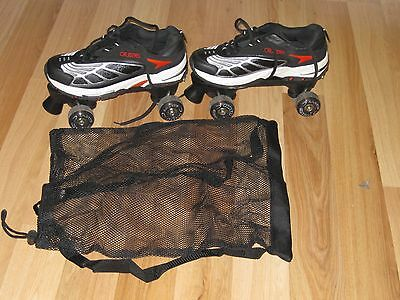 Cruisers to Go Shoes and Skates RARE Mens 10  Womens 11 Black Red NEW w/Box!