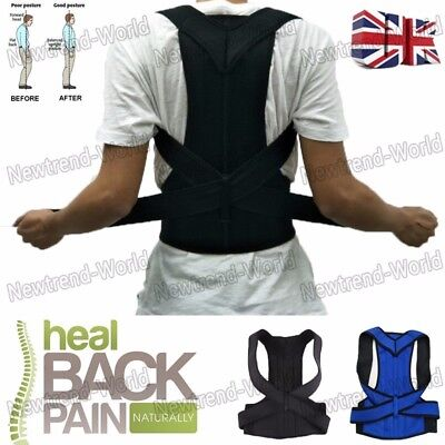 Therapy Posture Corrector Shaper Full Back Brace Lumbar Support Belt Doulbe Pull
